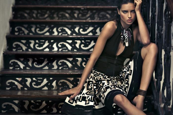 Donna Karan Spring 2012 ad with Adriana Lima