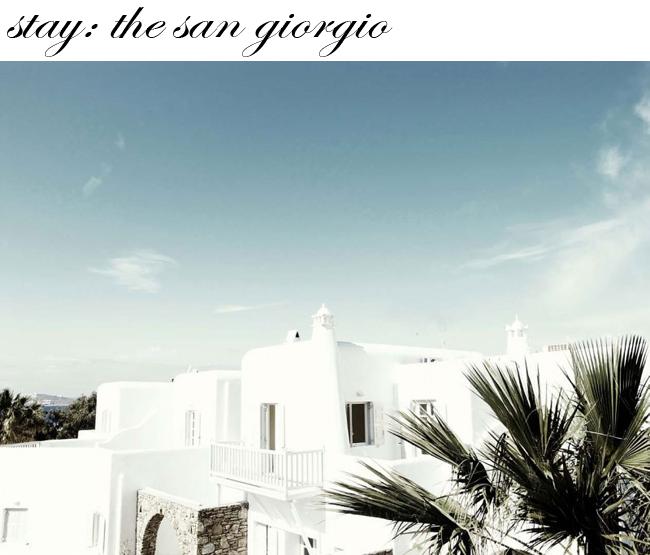 Mykonos Greece San Giorgio Hotel
