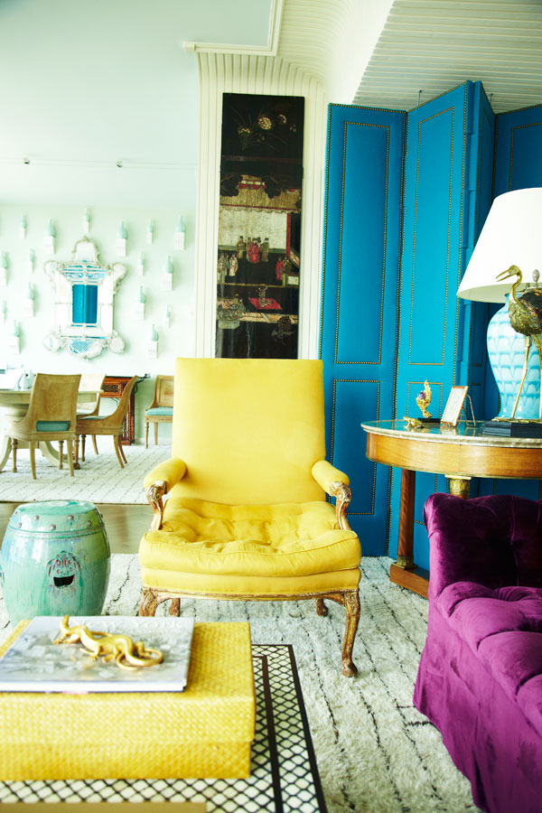 A bold and bright living room, designed by Miles Redd #interiors
