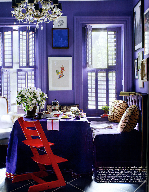 Purple Living Room, David Kaihoi House Beautiful