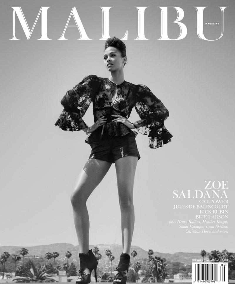 Zoe Saldana Malibu Magazine September 2012