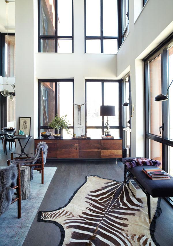 Athena Calderone's Brooklyn Penthouse, Harper's Bazaar