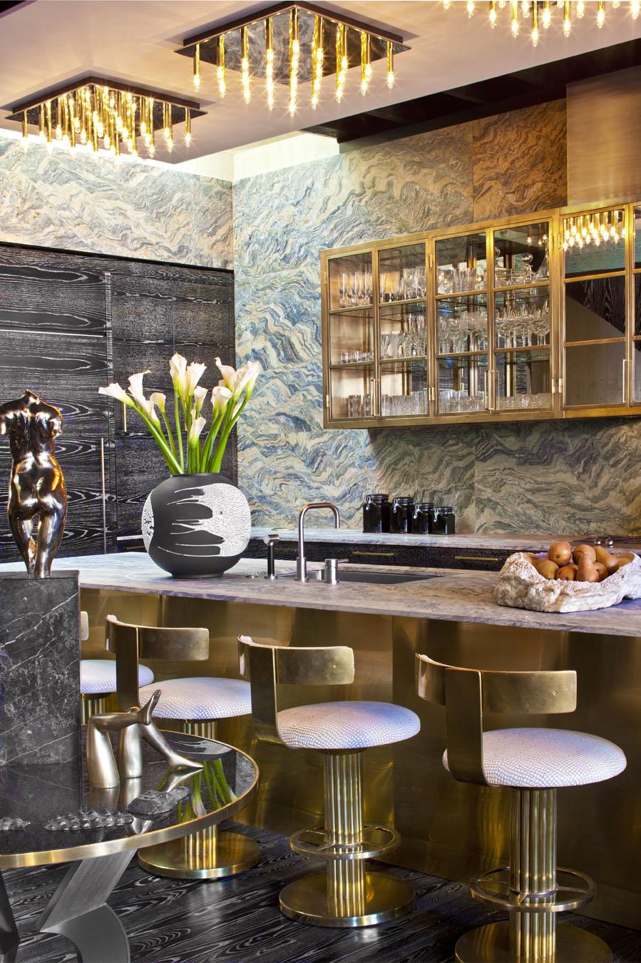 Bar area by Kelly Wearstler