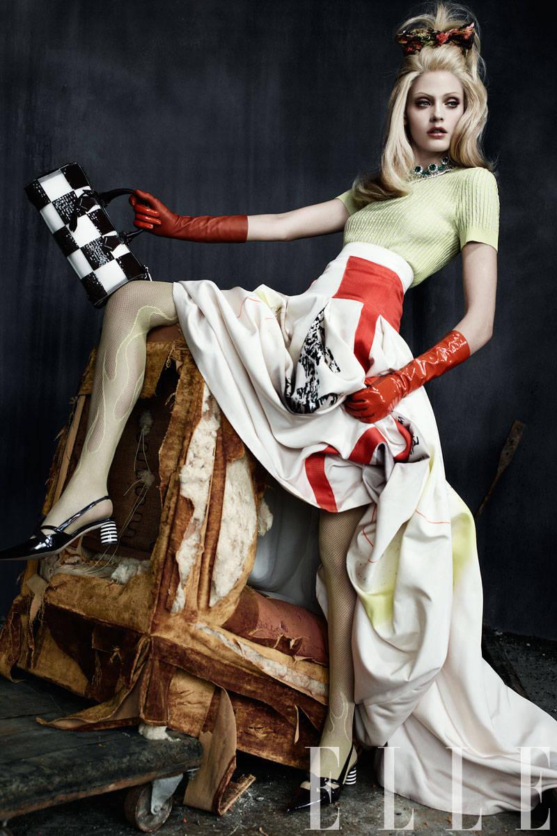 Carolina Herrera Modern Art Print Ball Skirt