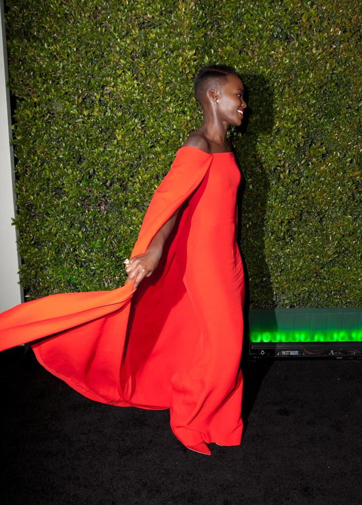 Lupita Nyong'O, Golden Globes Red Carpet