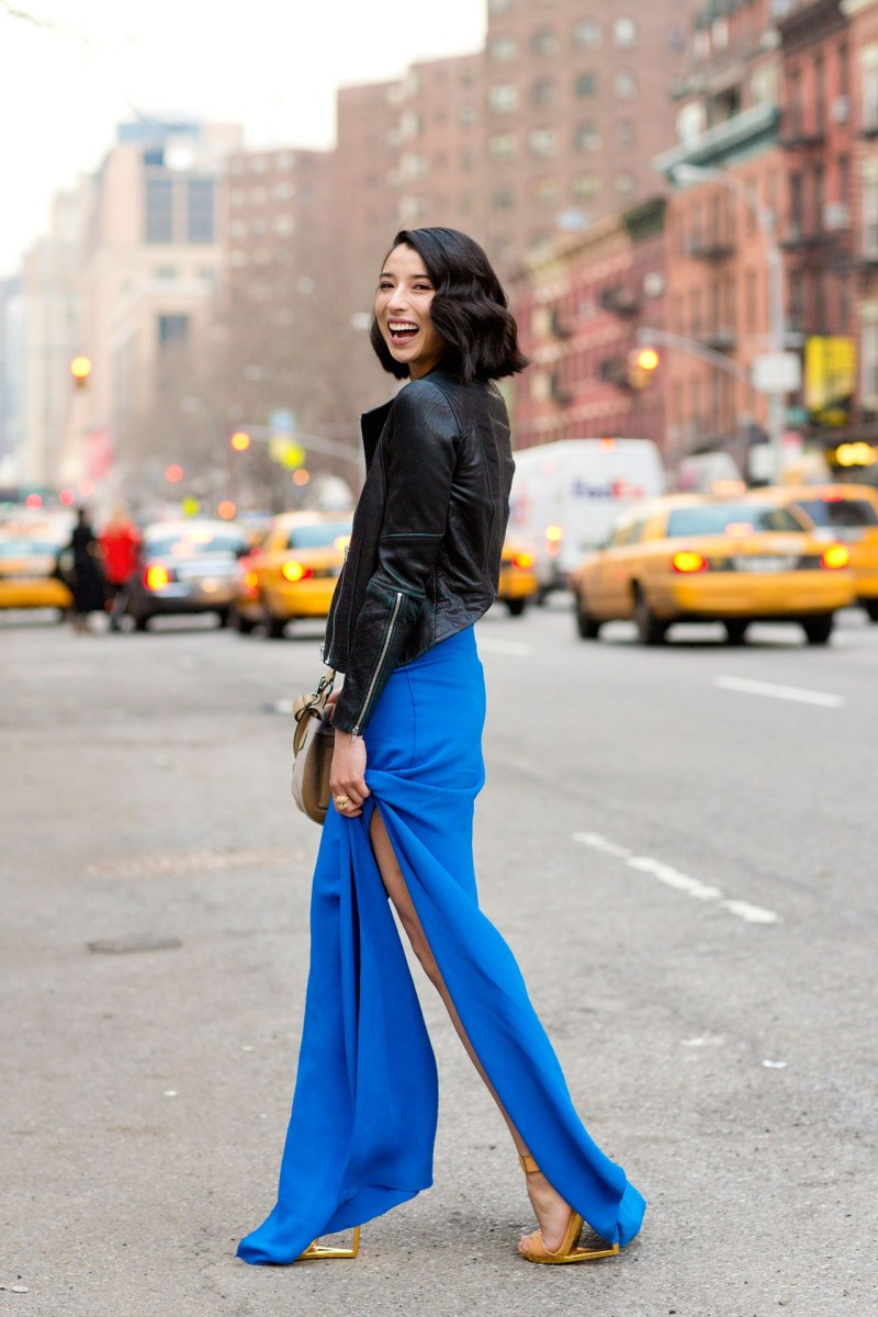 Lily Kwong in Reed Krakoff, New York Fashion Week