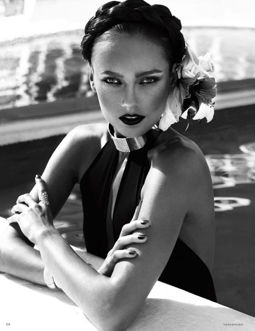 High Glam, Karmen Pedaru by Alexi Lubomirski for Vogue Germany June 2013