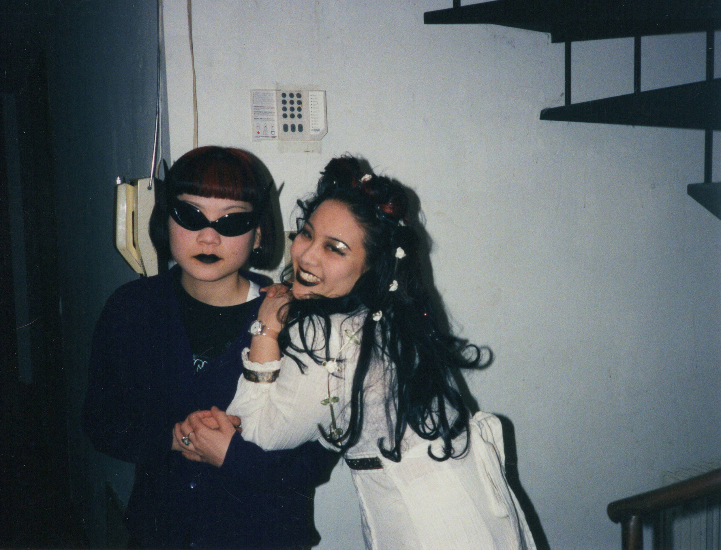 1997_Donna and Michelle Pre SF Goth Clubbing.JPG