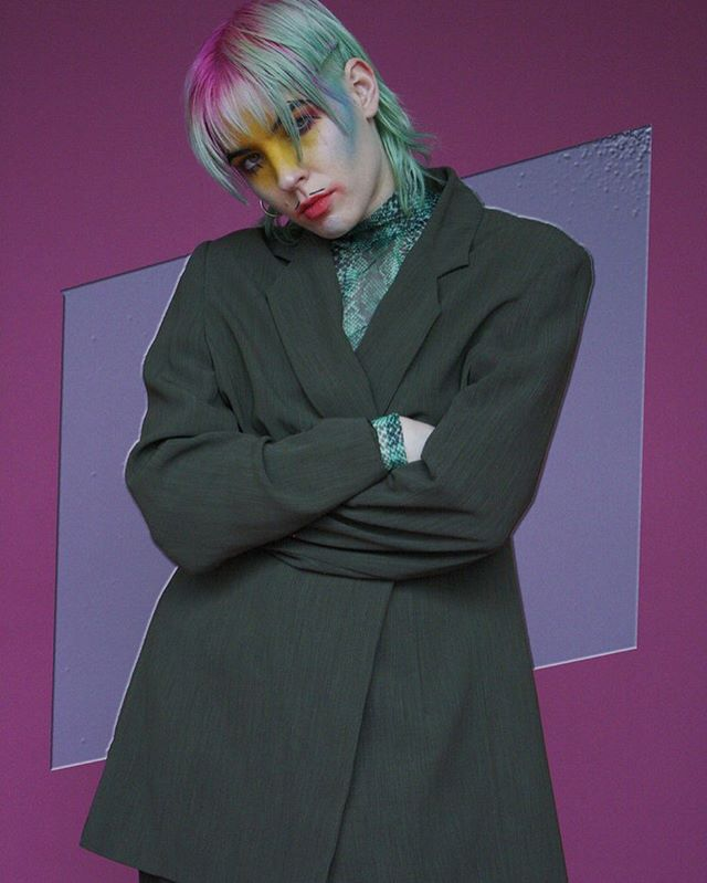 """For me, I identify as gender fluid, so sometimes it's a little bit more like loosey goosey,"" says @dorianelectra for @the_inmag #digital #cover now live at www.theinmag.com ""Sometimes I'll feel like a boy. Sometimes I'll feel like a girl. To me, those are kind of like moods. I guess I started to realize [this] when I was getting involved in the queer community and seeing that other people were going by them/they pronouns. I didn't feel uncomfortable using she/he pronouns for a long time. I was also proud to represent myself as woman at that time, especially when I was getting more into feminism. I think it was gradual as I [continued] to grow. Getting back to [my] genderless roots as a kid and realizing that they/them feels more comfortable for me. It wasn't like I woke up one day and all of sudden, call me them/they. [Some] feel like it's inconvenient to ask other people to do it. It doesn't have to be."" — 👔🥊💜🚨 Be sure to see their full interview by @michyvari photography by @bahannahcupcake following link in bio!"