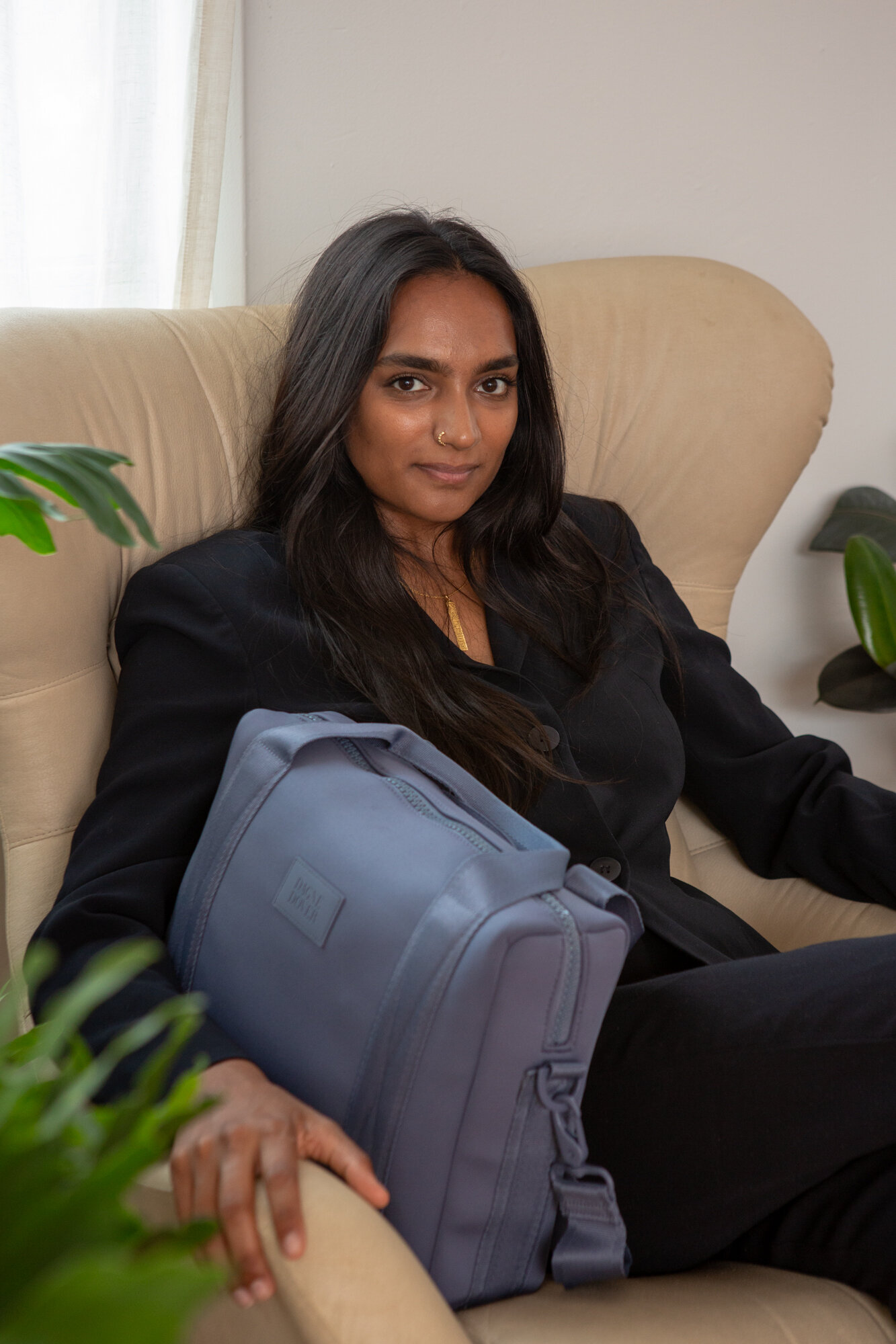Nafisa with the Dagne Dover Weston Laptop Bag