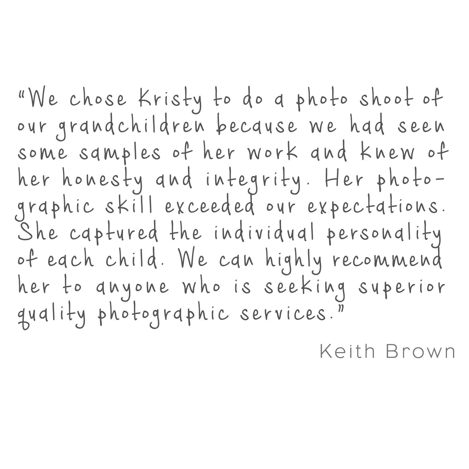brown testimonial