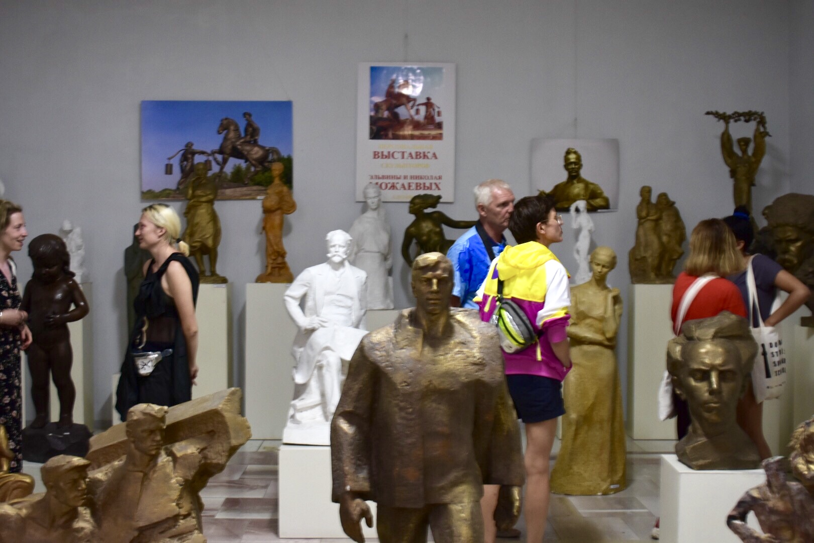 Participants and others reflect upon the phenomenon of Soviet sculpture in the context of debates on Decommunization of public spaces, Lysychansk Regional Museum