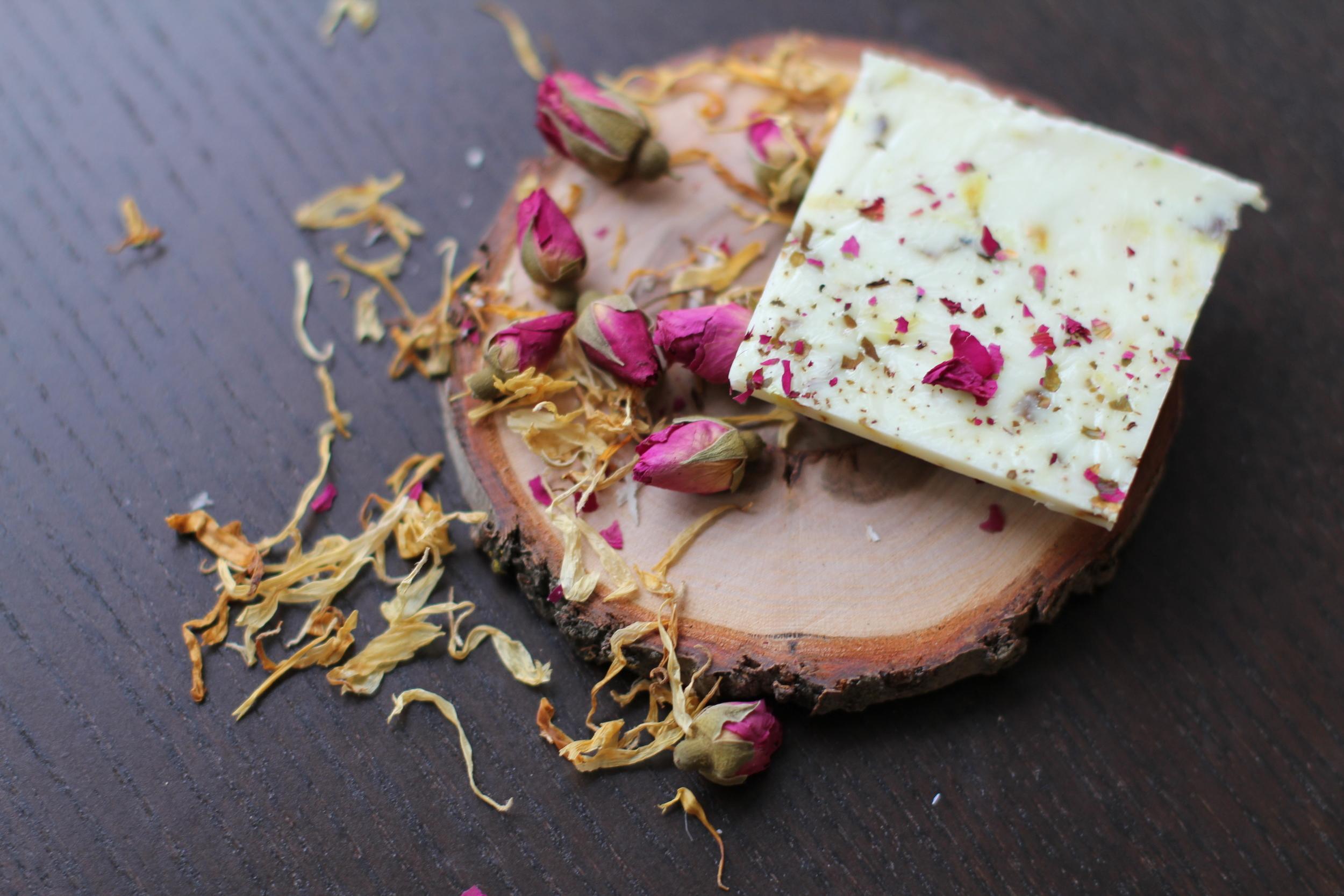 diy hydrating herbal soap botanical medicine recipe calendula rose dr briana lutz