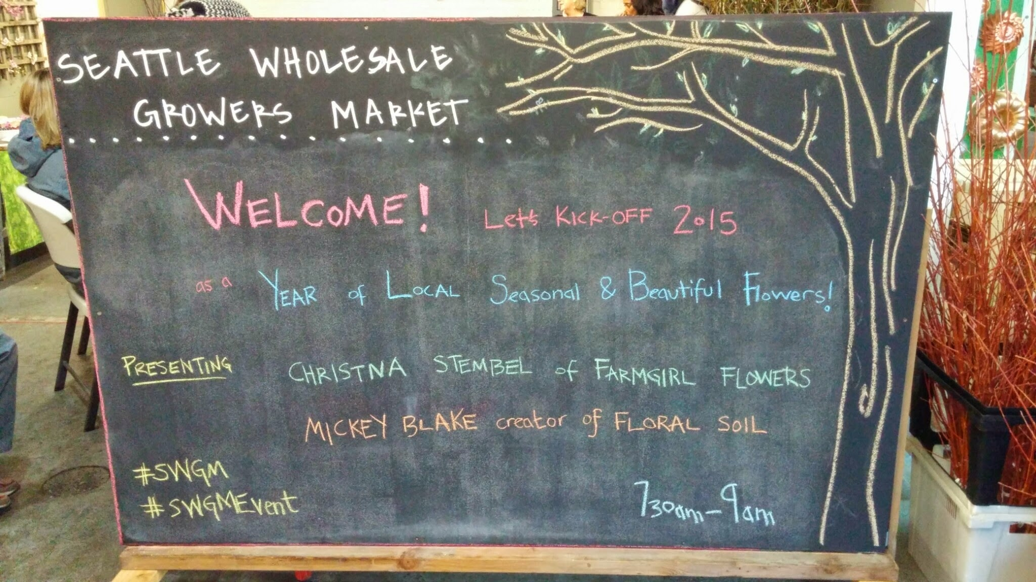 January at  Seattle Wholesale Growers Market