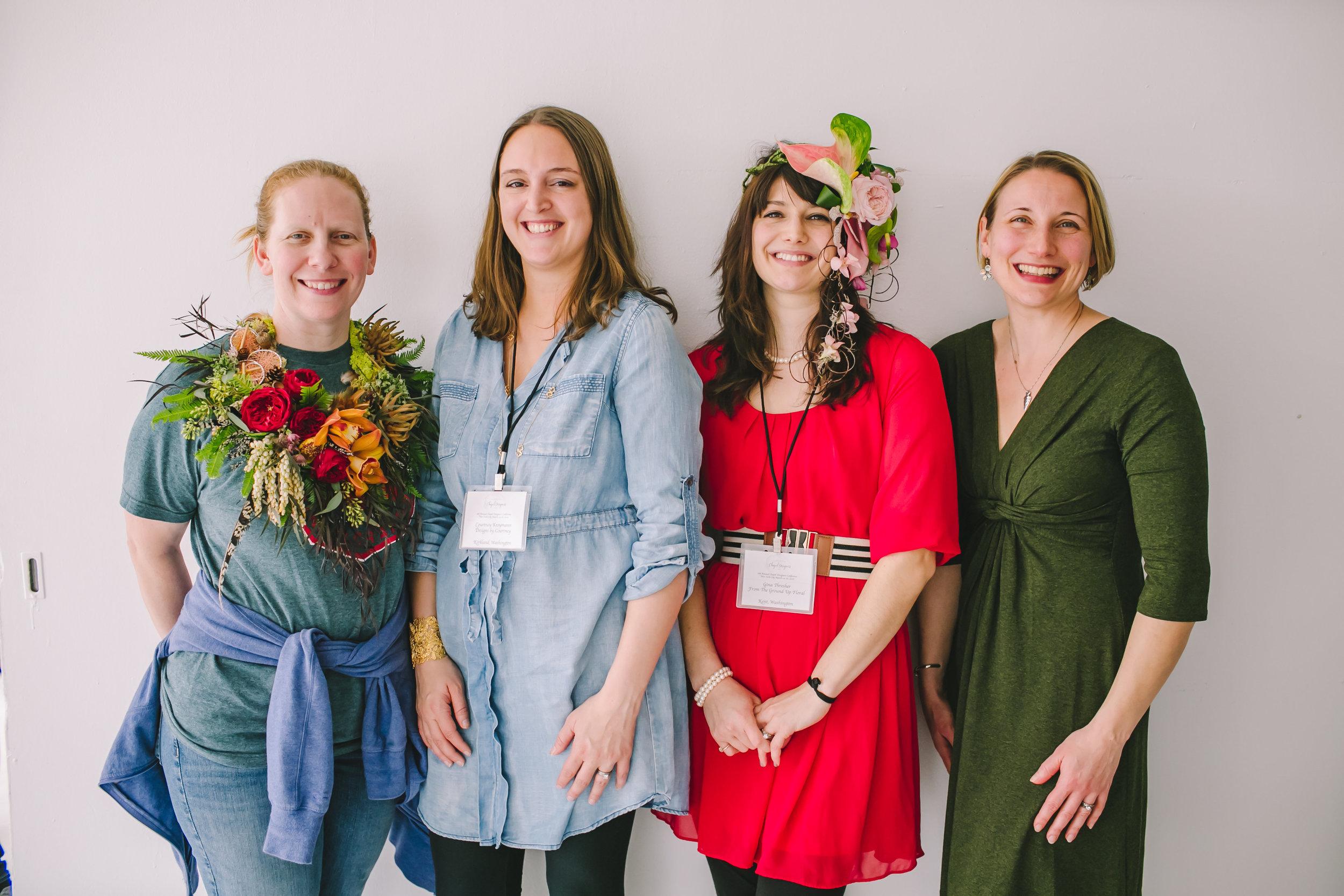 Andrea Grist, Courtney Kroymann, Gina Thresher, Alison Ellis- Chapel Designers NYC 2016 Photo:  Amanda Domouchelle