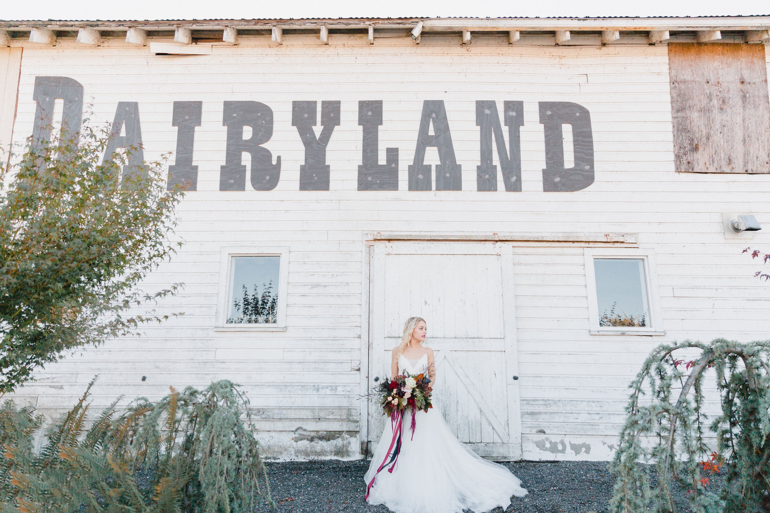 Dairyland Barn -A unique Snohomish wedding venue. Floral by From the Ground Up Floral