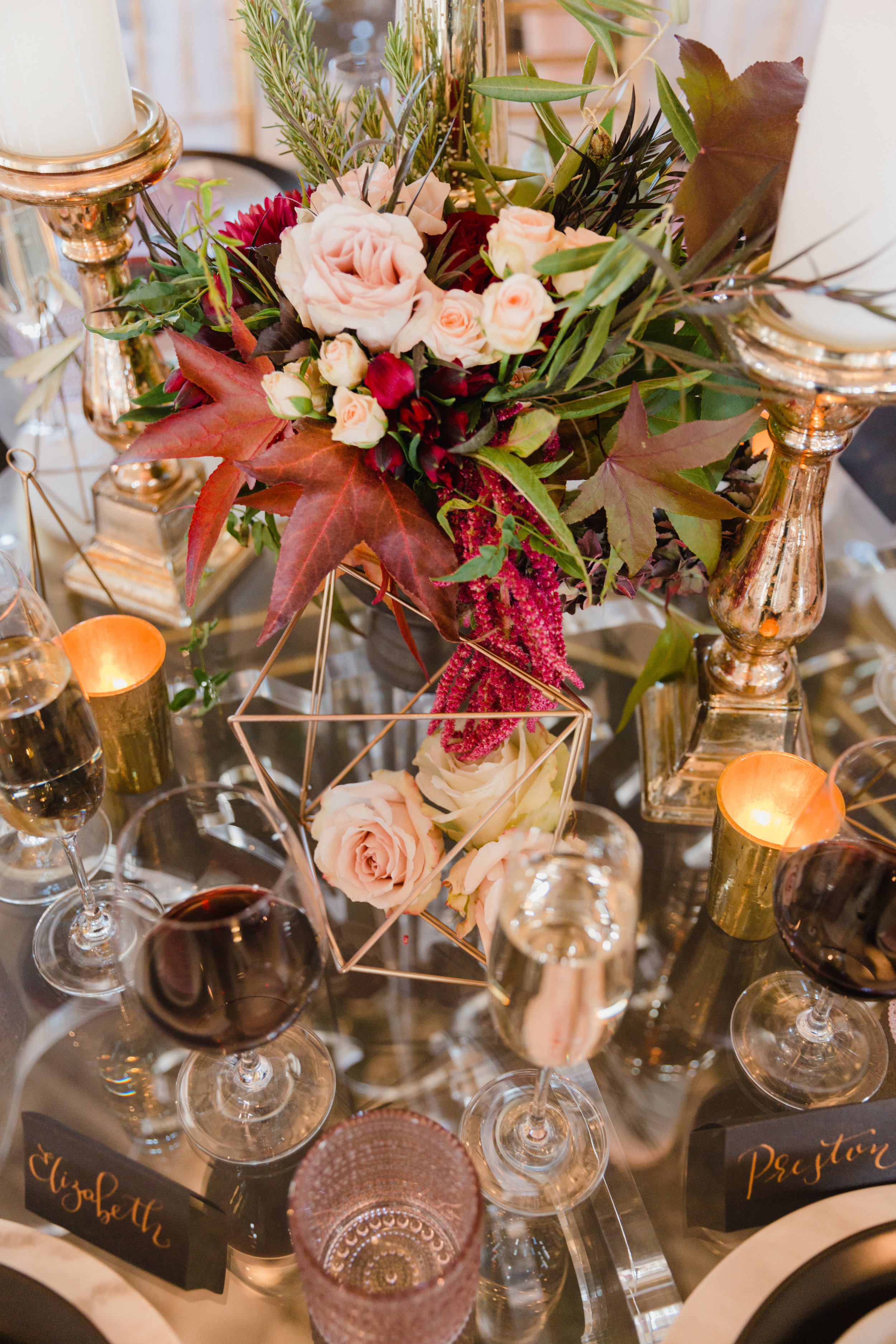Modern fall centerpiece by From the Ground Up Floral