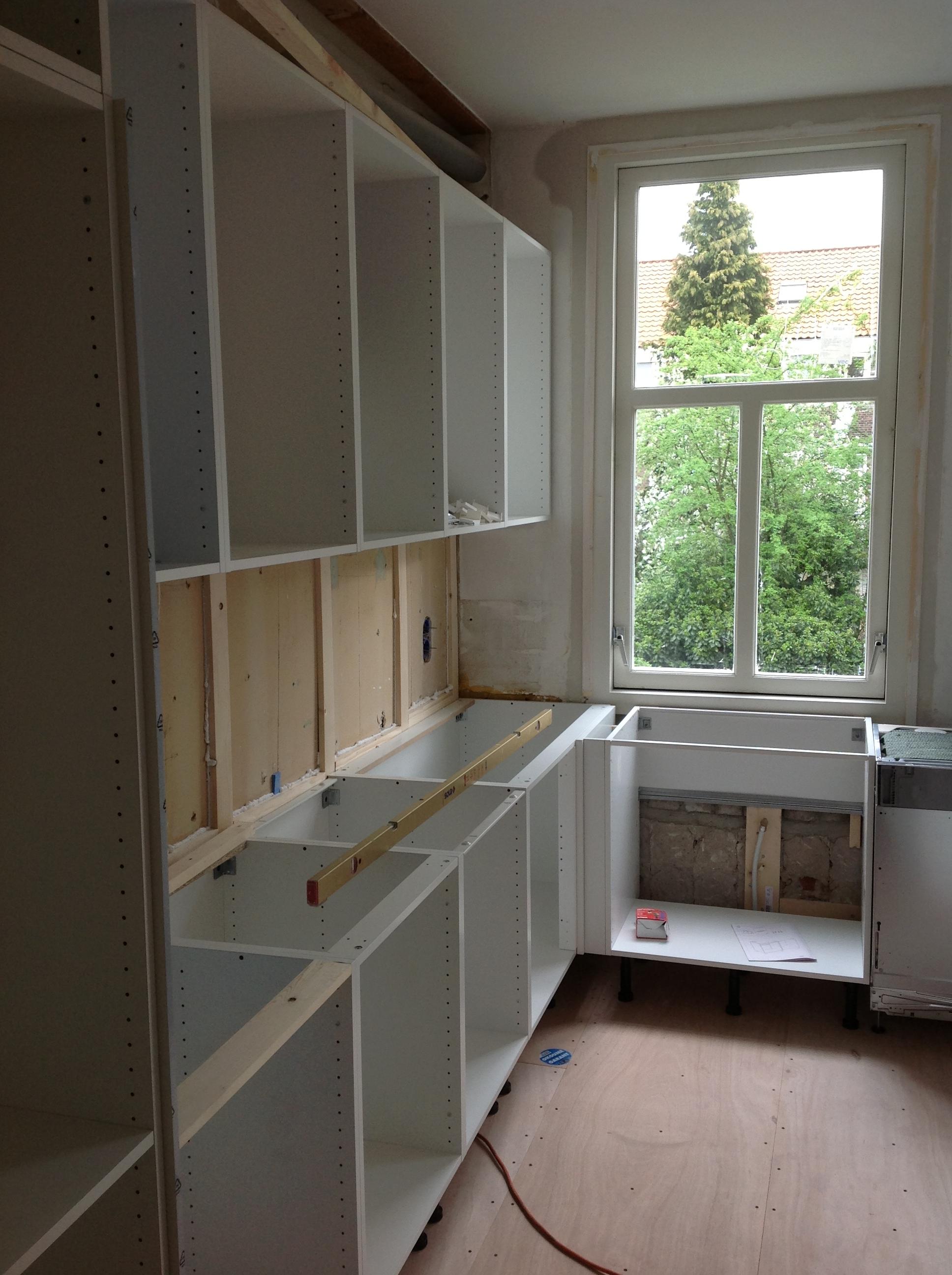 Opbouw van het keukenblok