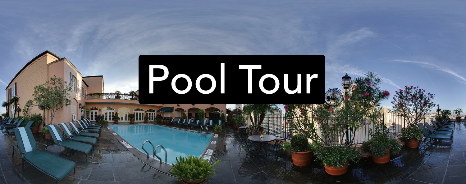 TAP IMAGE to 360° Tour Hotel Monteleone Rooftop Pool