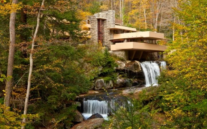 Falling Water by Frank Lloyd Wright Credit: Getty Images/Richard T. Nowitz