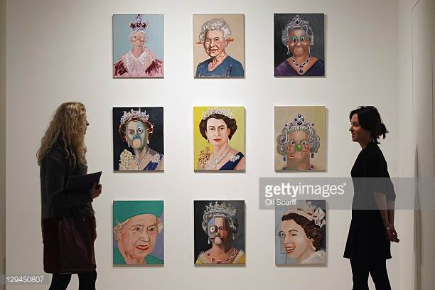 American artist George Condo in the 'Mental States' exhibition of his work at The Hayward Gallery Credit: Getty Images