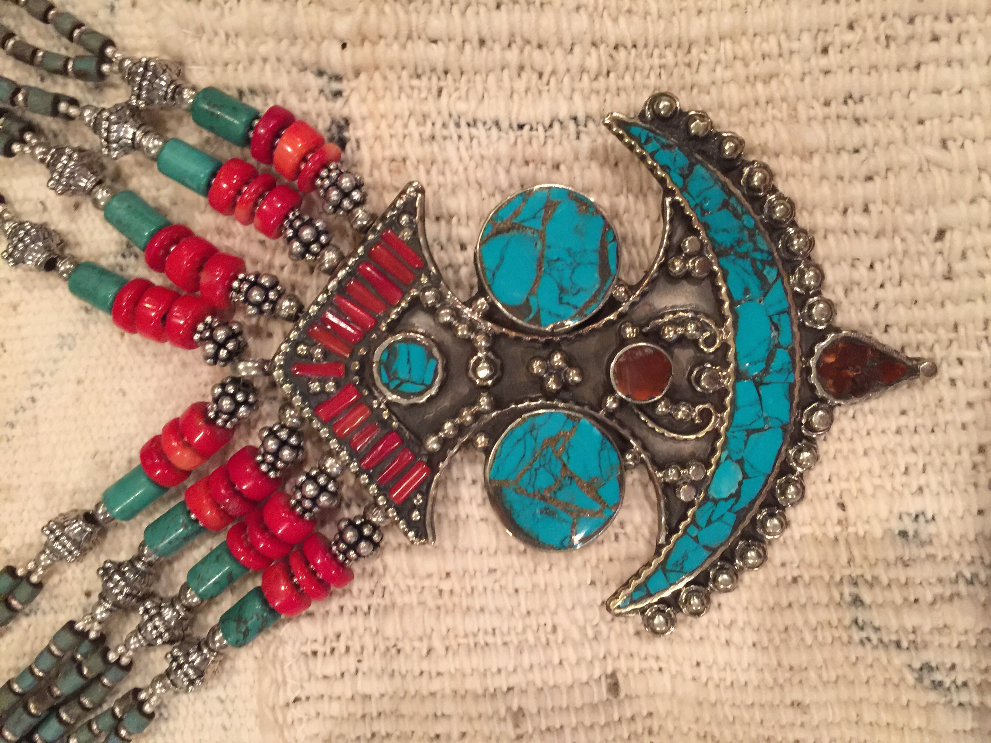 Moroccan necklace, Taureg design