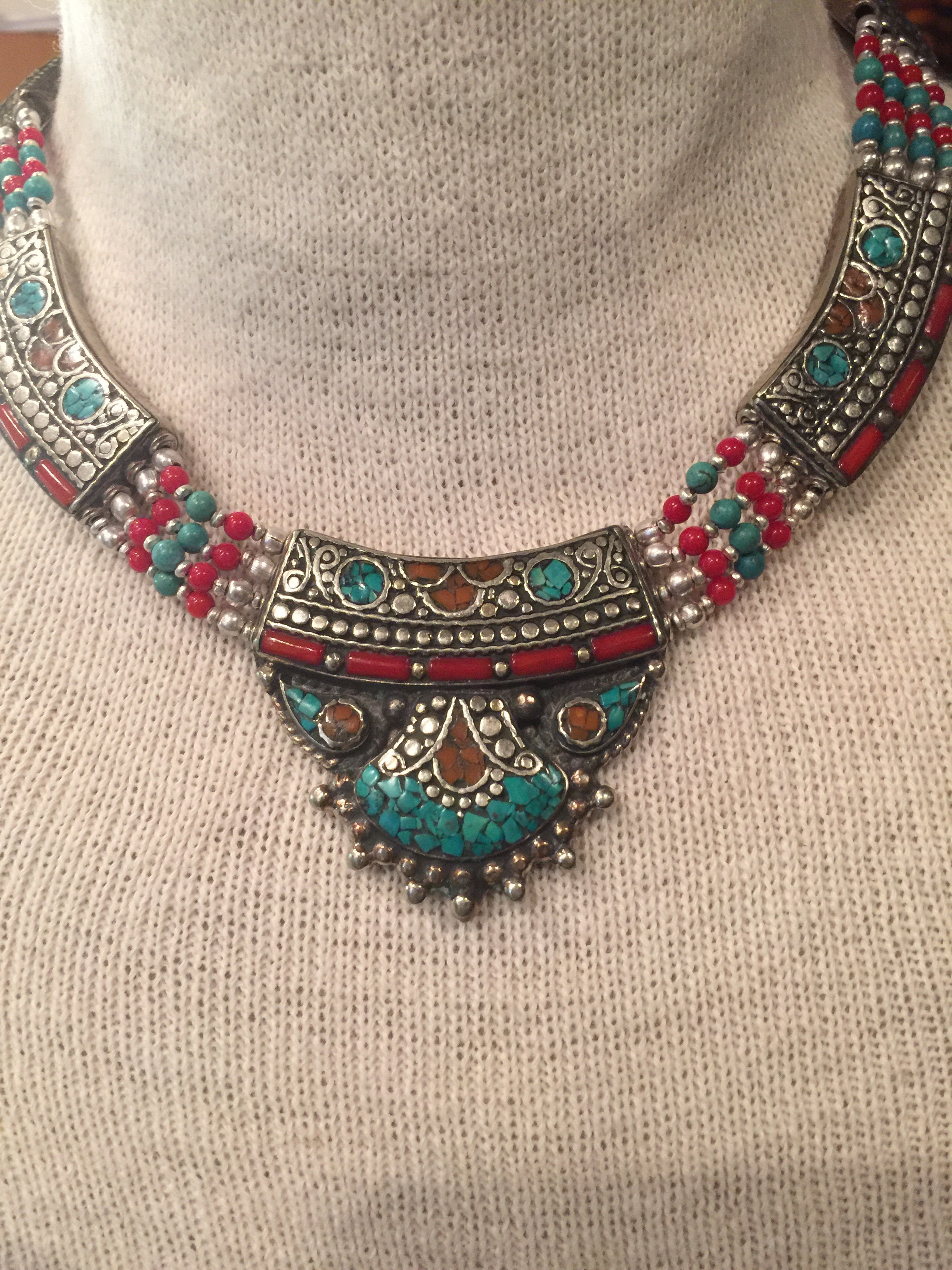 Beautiful handmade Taureg style necklace    etsy, $70