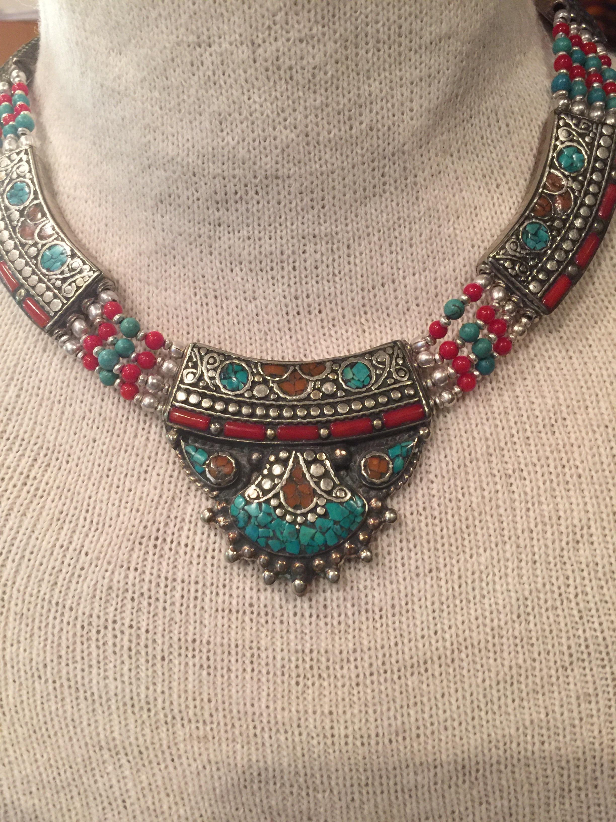 Beautiful handmade Taureg style necklace   etsy, $70