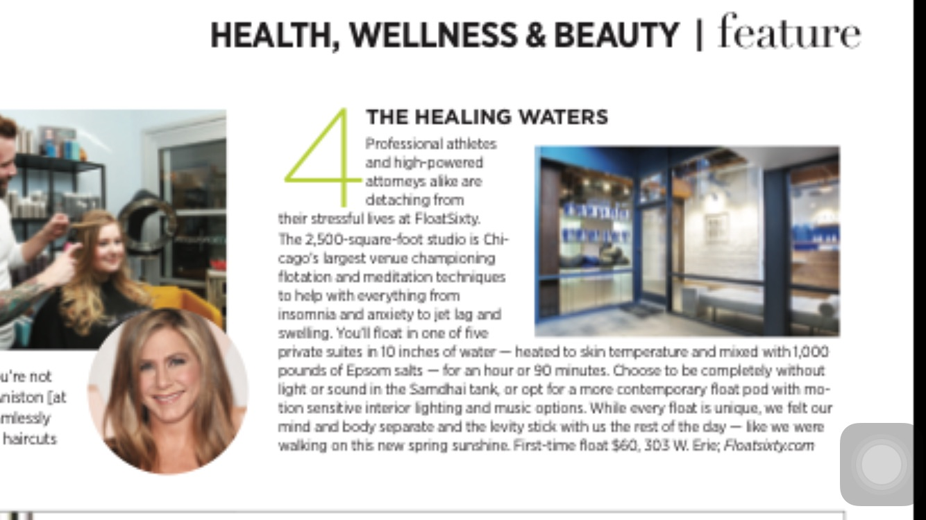 """Float Sixty billed as """"The Healing Waters"""""""