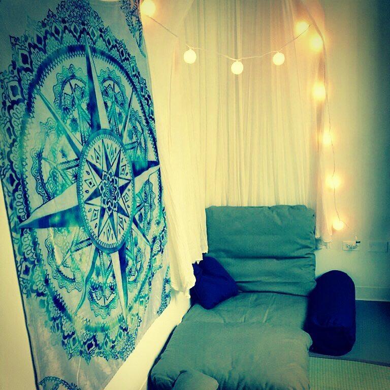 Float Sixty's Meditation room at night