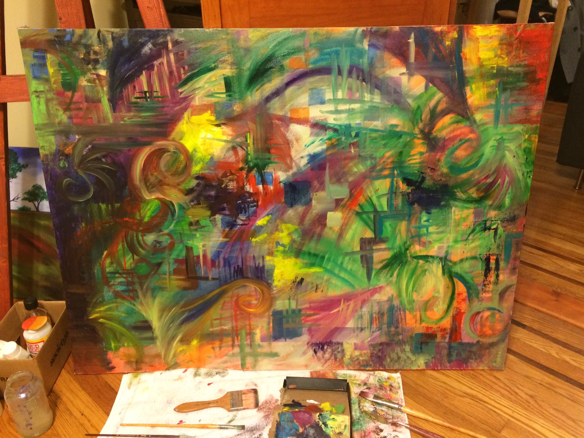 Queens, New York | 02.08.15 | Oil paining collaboration with Stella Gold