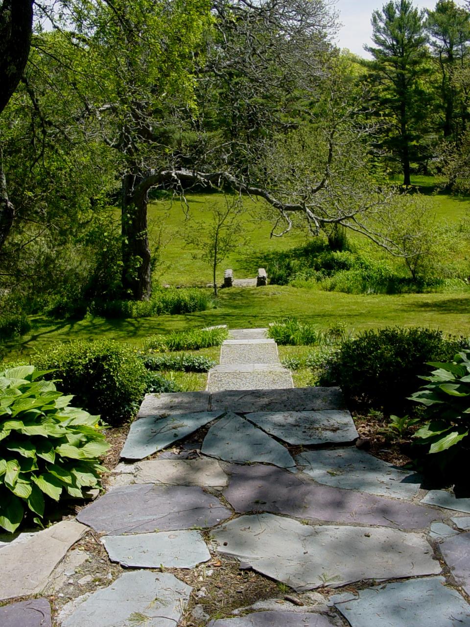 steps to lower lawn.JPG