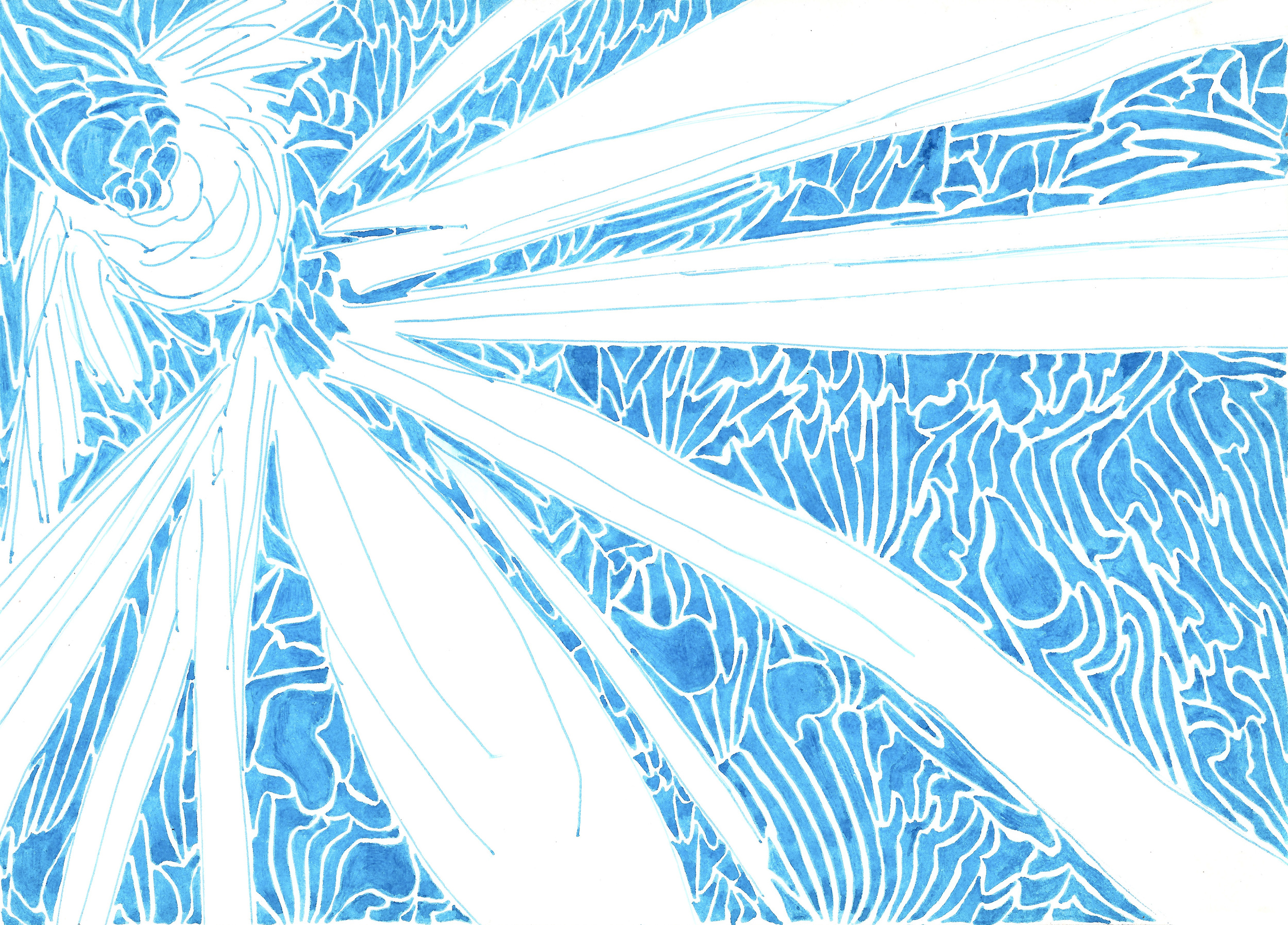 Light  (2012)  Acid Free Pen and Paper 5 in x 7 in 8 in x 10 in