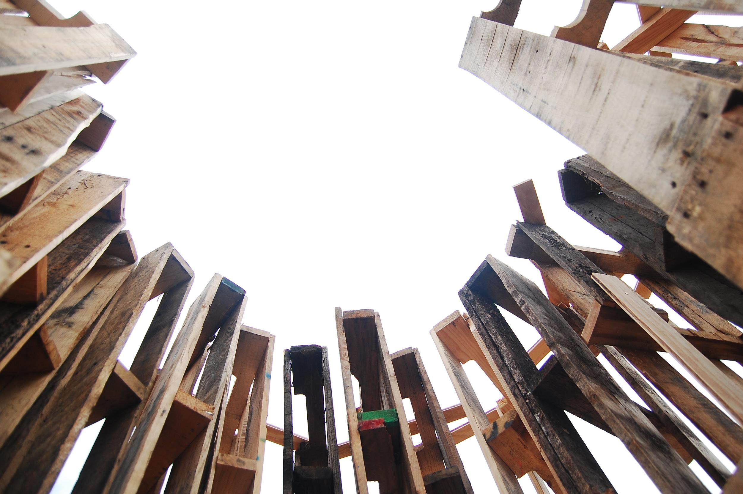 Perception (2011)  Wood Palette Structure 8.5 ft x 10.5 ft