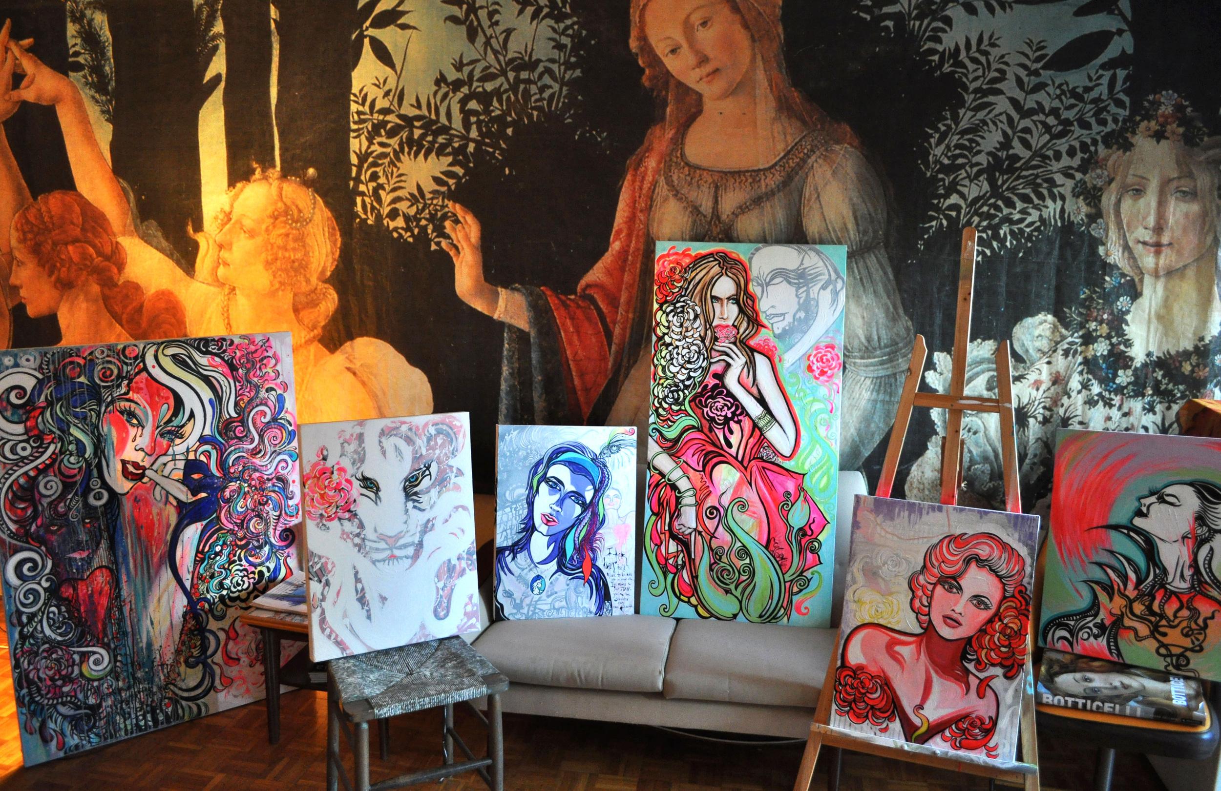 Series of paintings in my living room    2010