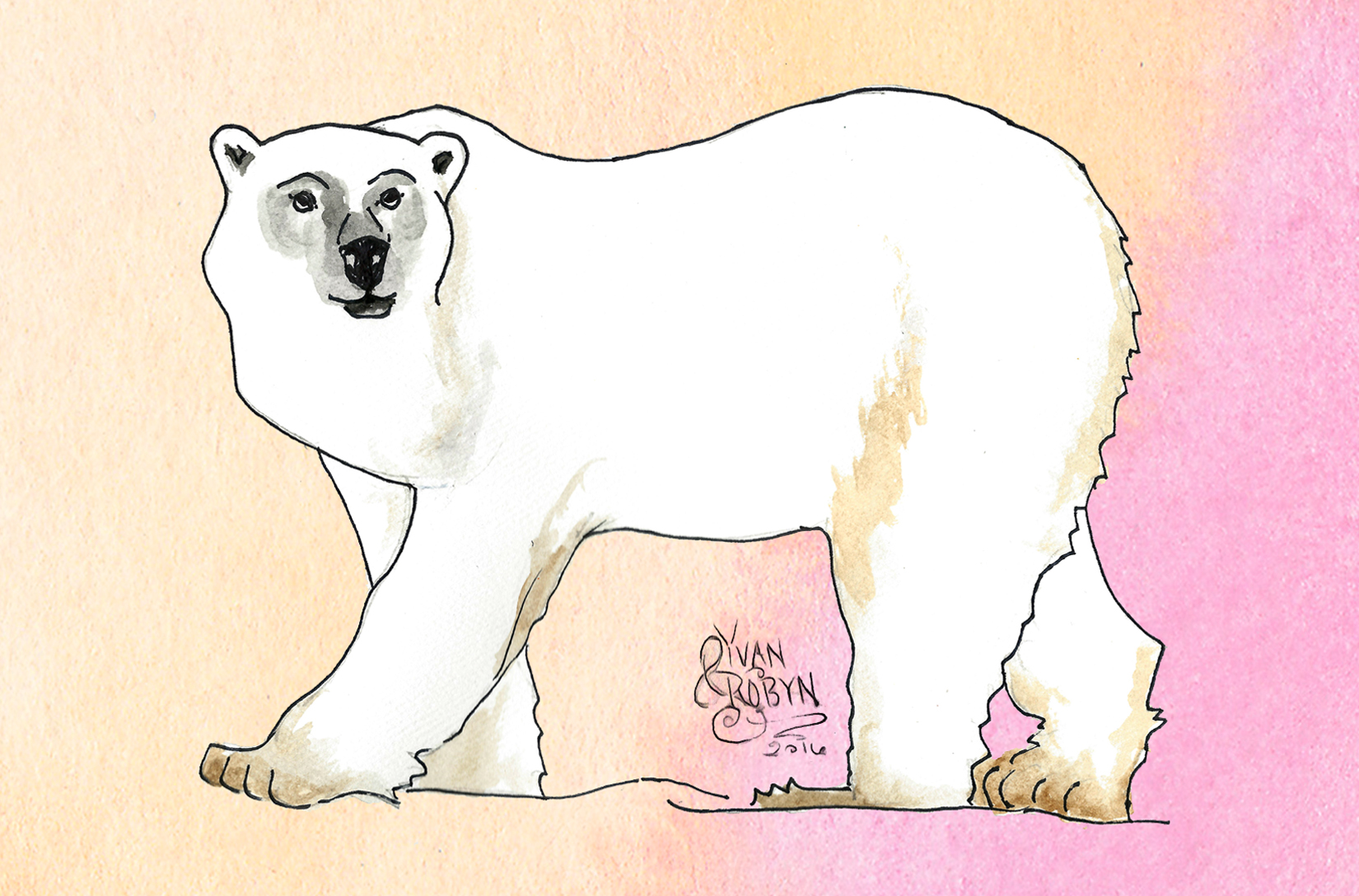 Polar Bear Totem Animal  | Custom illustration for Yvan & Robyn's wedding | 2016