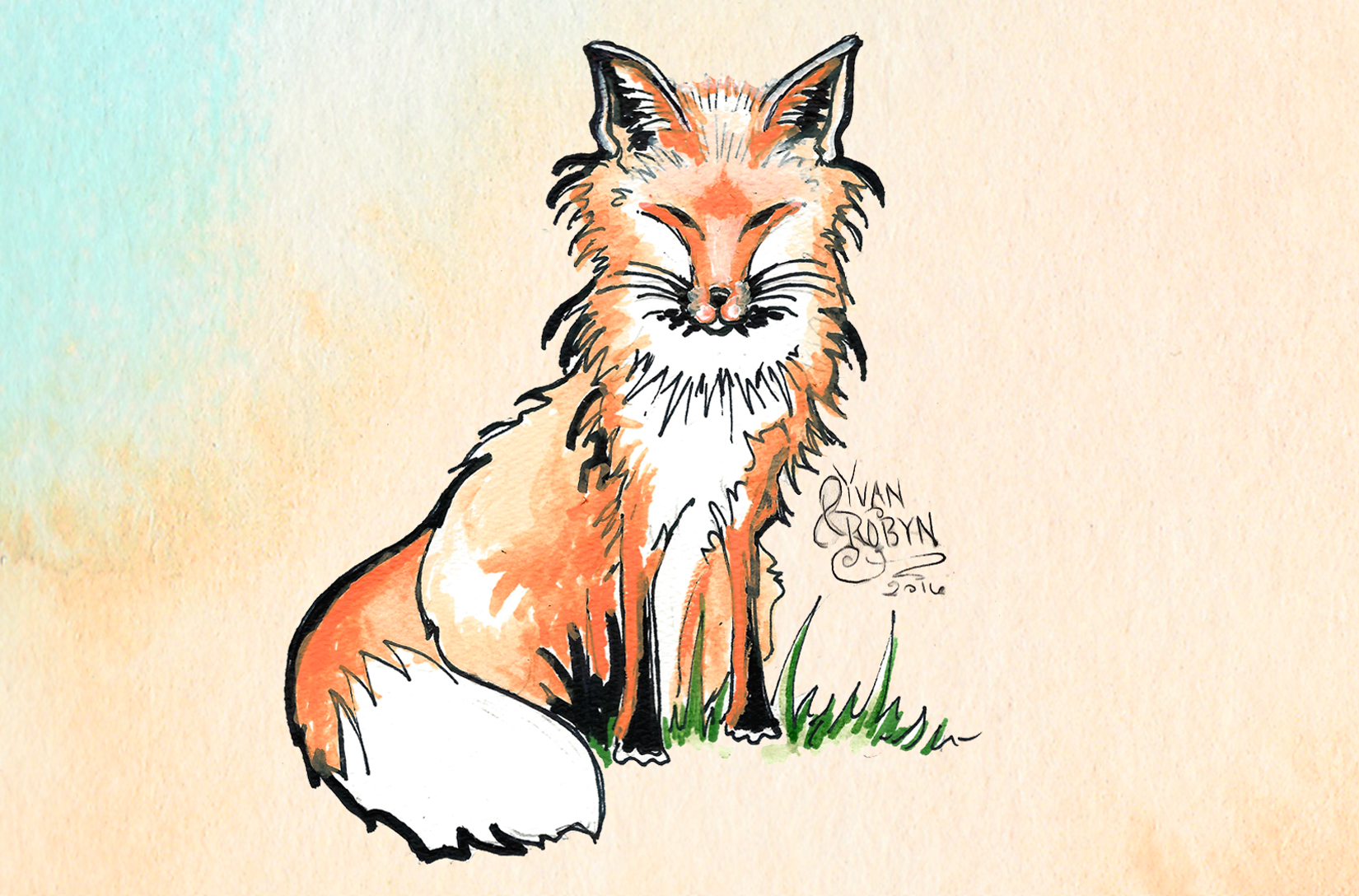 Fox Totem Animal  | Custom illustration for Yvan & Robyn's wedding | 2016
