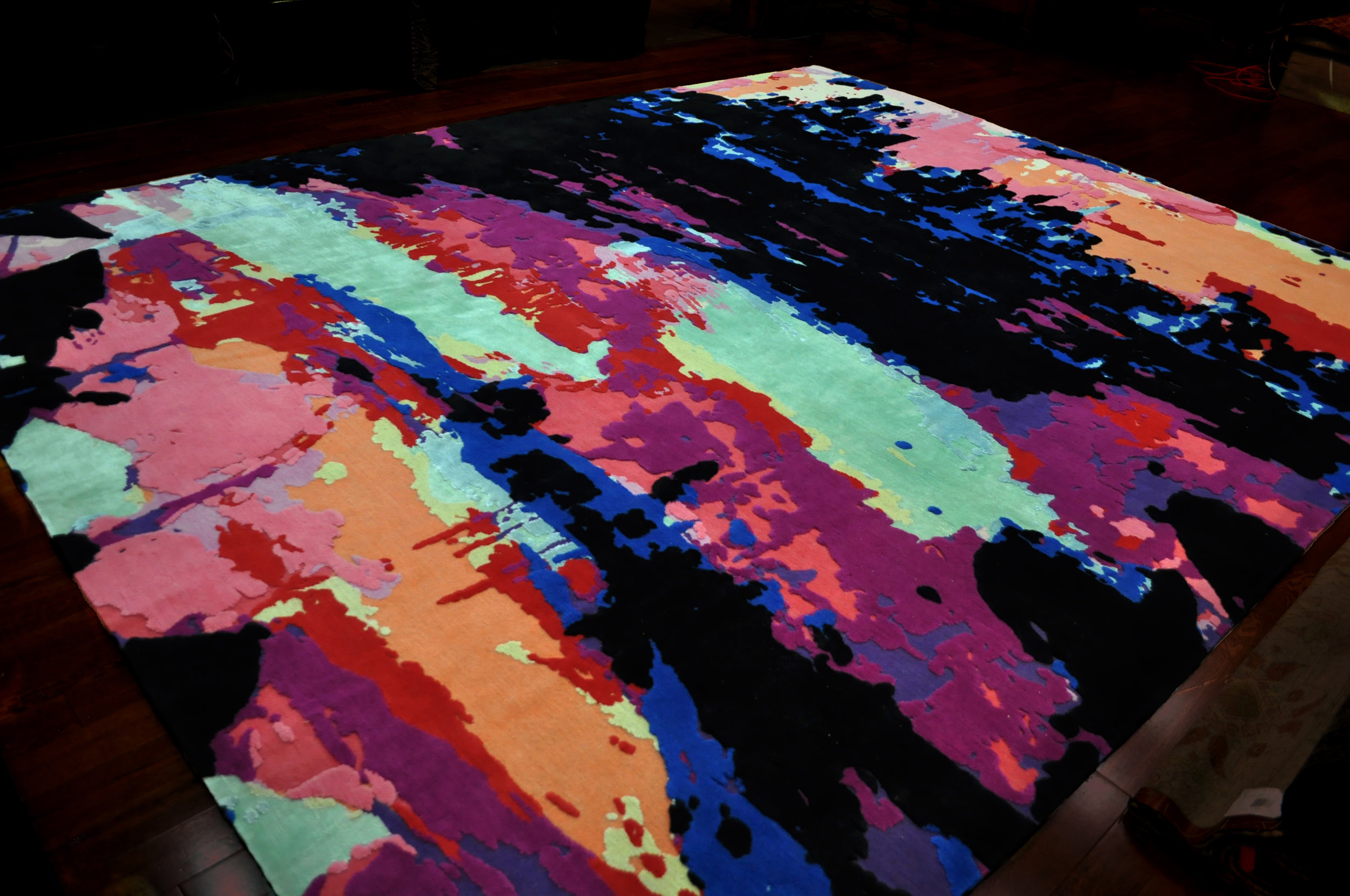Cape Fear Rug  | Hand knotted in wool and silk | 10'x13' | 2011