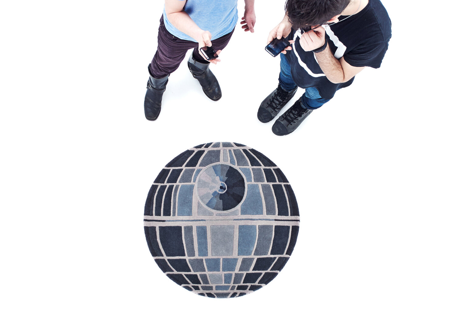 Small Death Star Rug  | Hand tufted in Wool | 3'x3' | 2013