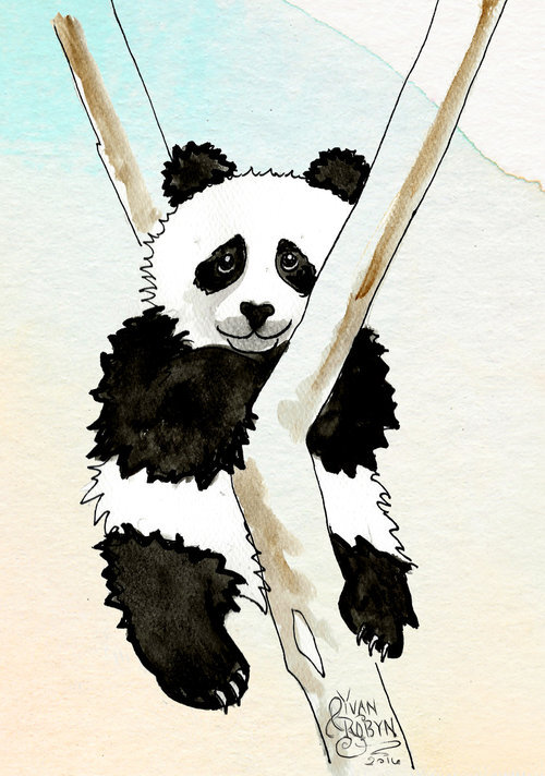 Panda Totem Animal  | Custom illustration for Yvan & Robyn's wedding | 2016