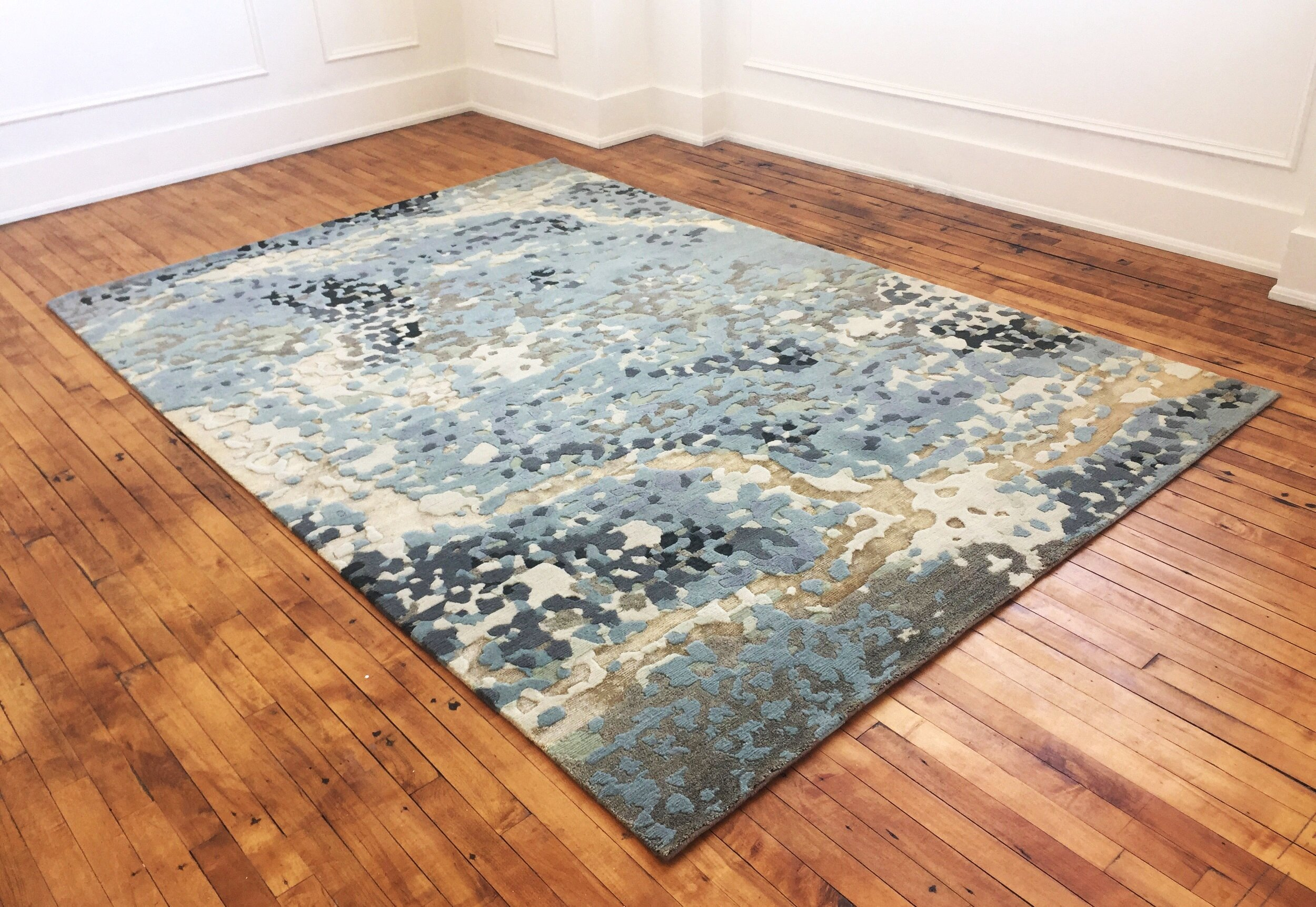 Daphne  | Custom rug for Attic Gold in Toronto | Wool, Silk & Hemp | 6'x9' | 2017