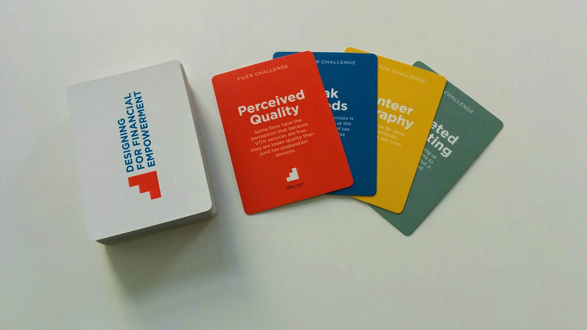 Ideation cards communicate the challenges from discovery findings in a playful way.