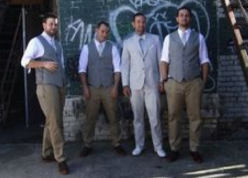 R. Dean Wedding Party. Suit, shirts, vests and neckware designed by V. McPhedran