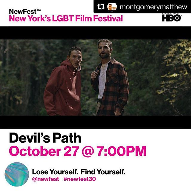 #Repost @montgomerymatthew ・・・ Next stop - NYC. #newfest #newfest30 #devilspathmovie #lgbt #lgbtq #psychological #thriller #hiking #devilspath