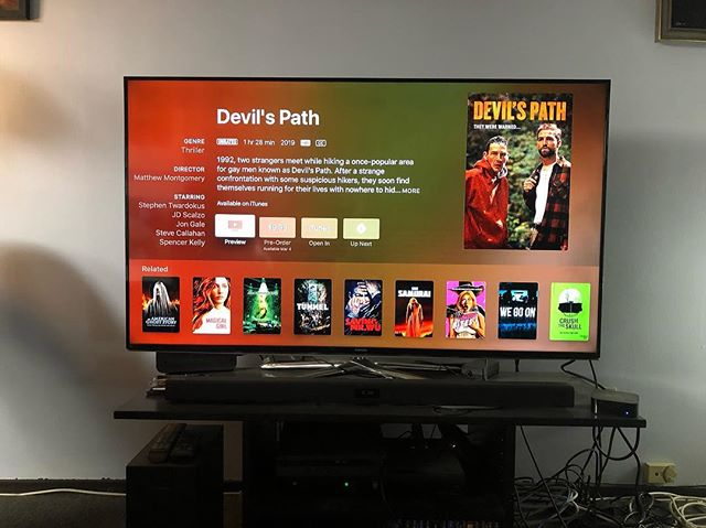 Now available for pre-order on #itunes (and Amazon). #devilspathmovie #lgbt #gay #thriller #vod #dvd #movies #comingsoon #amazon #breakingglasspictures #theywerewarned #filmmaker #director #writer #usc #sca #trojans