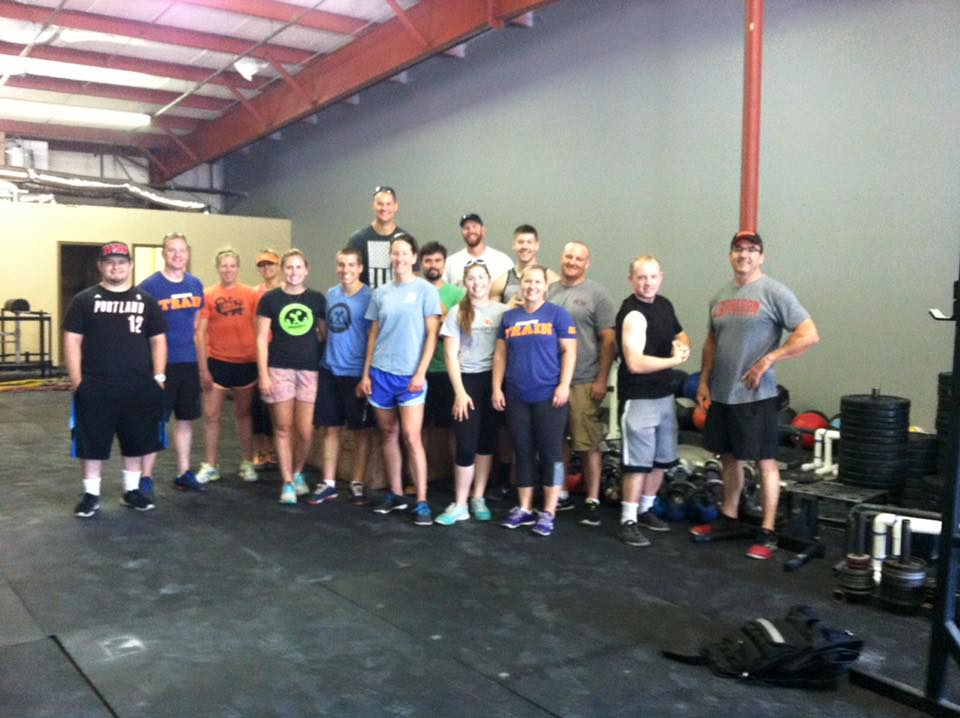Some of the moving crew, there were plenty more who worked their butts off but didn't make it into this picture.