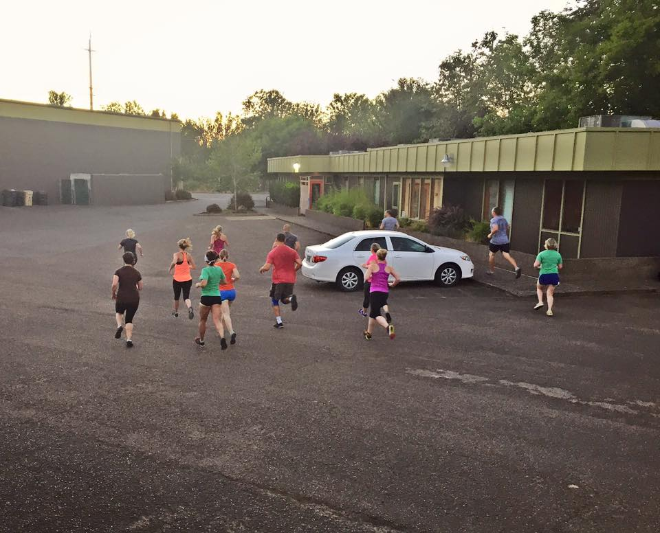 5am waking up the right way, with some running. (I'm sure there was some caffeine involved too!!)
