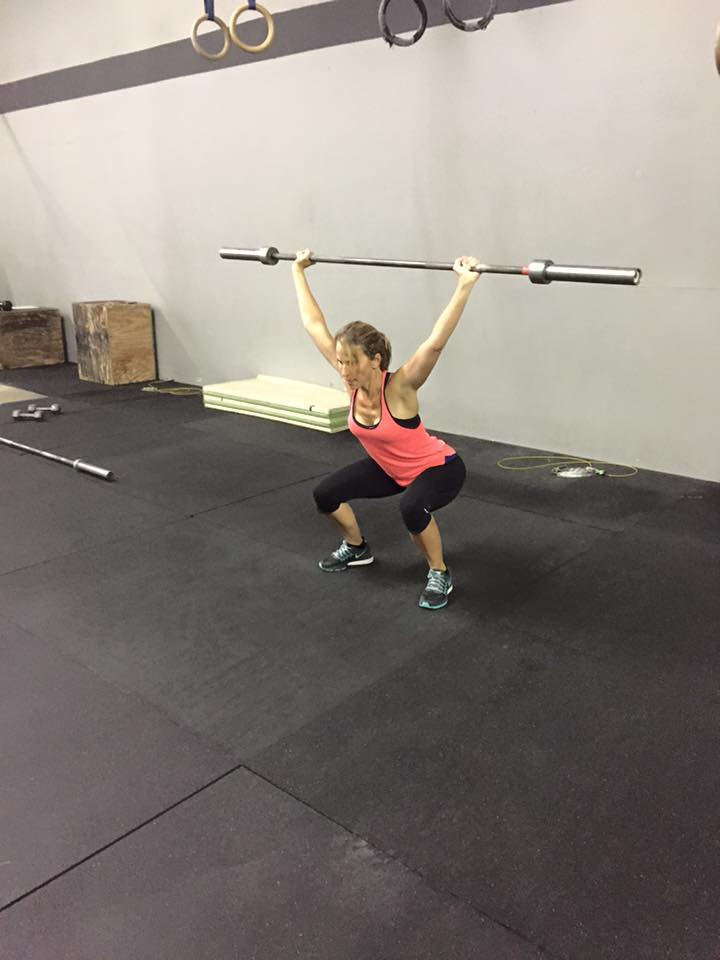 Mandy is ready for some fast and furious Overhead Squats, are you???