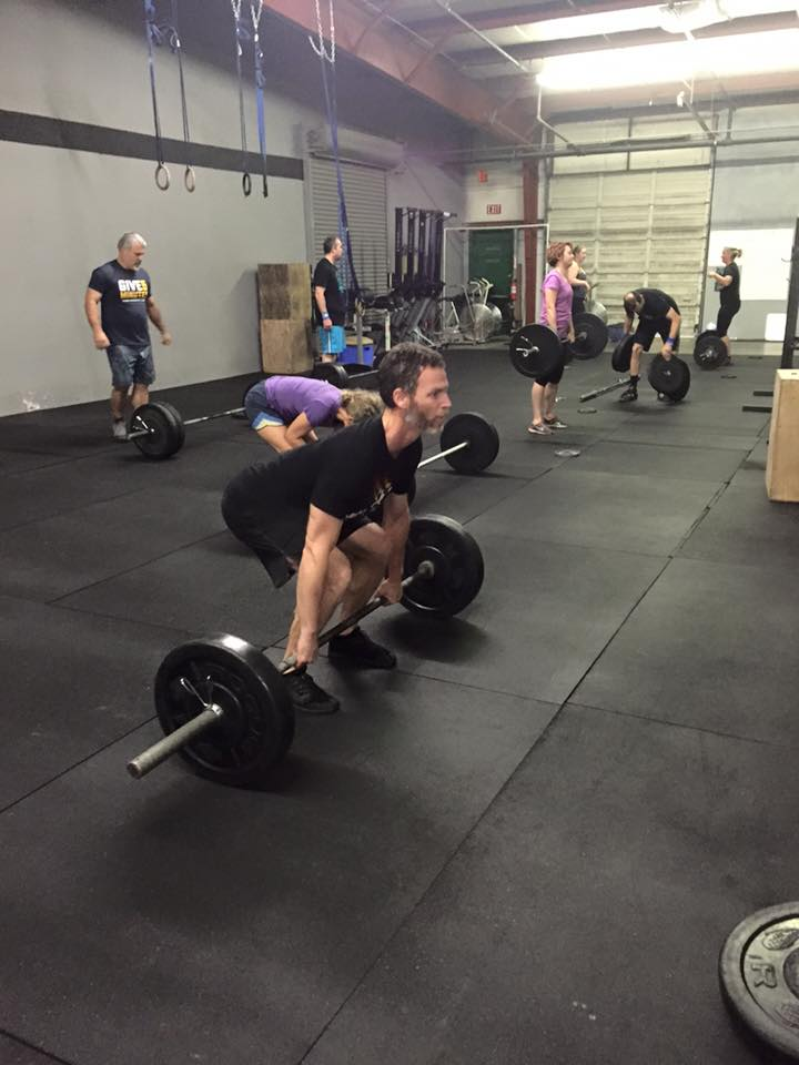 Even after 3 minutes of pure Burpees, Benjamin still set up like a champ for his Clean and Jerk!