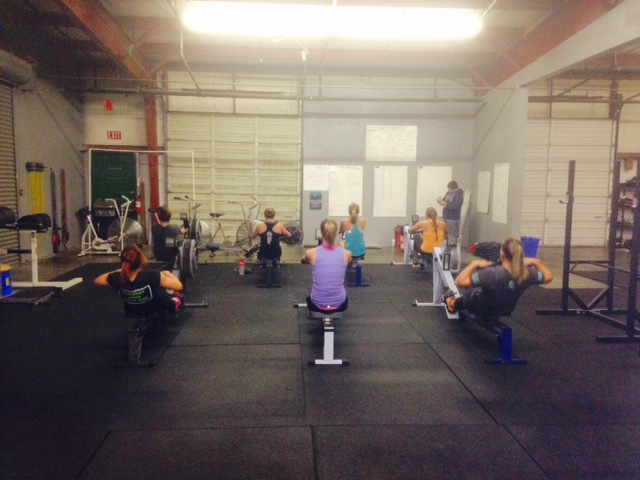 The CrossFit Train Rowing Team in action :)